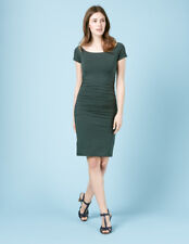 BODEN BNIB Off Shoulder Ruched Dress - Dark Green - UK 10 L