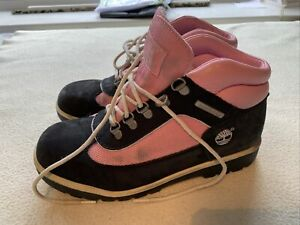 Women's Timberland Navy Pink Nubuck Suede Boots Size Uk 5.5