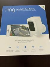 BRAND NEW! Ring Spotlight Cam Battery Security Camera White - 1 Year Warranty!