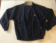 K Products New Holland Tractor Light Weight Jacket Sz XL Blue