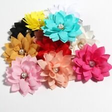 """50PCS 5.5CM 2.1"""" Small Layer Fabric Lotus Flower For Wedding Boutique Accessory"""