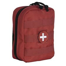 Voodoo Tactical EMT Pouch Medic EMS Paramedic First Aid Pouch MOLLE w/ Patch Red