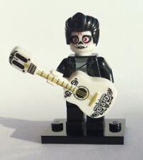LEGO ELVIS PRESLEY day of the dead dia de los Muerto made w custom head & guitar