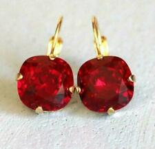 4.00 Ct Cushion Cut Red Garnet Stud Earrings Jewelry Gift 14K Yellow Gold Over