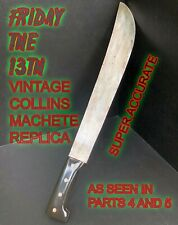 "Friday The 13th Jason Prop Machete Vintage Collins Repro 22"" Wood And Aluminum"