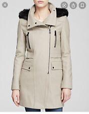 Marc New York By Andrew Marc Ella Wool Coat Faux Fur Hood - 4 MSRP $120