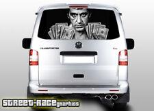 VW Volkswagen Transporter T5 Portón Trasero envoltura de vinilo de gráficos de 125 Impreso Scarface