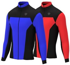 Mens Cycling Jersey Long Sleeve Cold Wear Thermal Fleece Top For Bike Racing