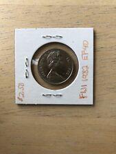 1982 Fiji 10 Cents Lamination Error