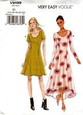 2ec75a40ed8e Vogue Sewing Pattern V9199 9199 Misses Dress Very Easy Vogue NEW size 14-22