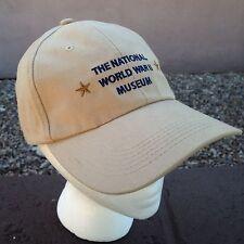 The National World War II Museum Hat Washington DC Baseball Cap Tan Adjustable