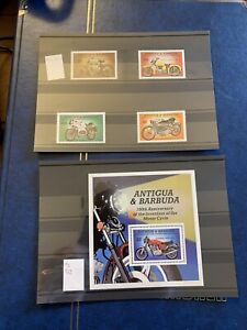 Antigua&Barbuda 100th Anniversary Of motorcycle Stamps MNH