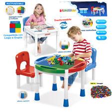 TAVOLO BAMBINI DA GIOCO E STUDIO CON SEDIE TAVOLINO 3in1 LEGO DUPLO