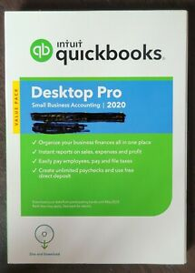 NEW Intuit QuickBooks Desktop Pro 2020 Lifetime License Accounting PC