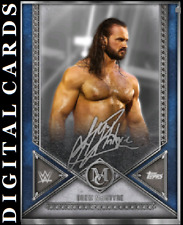 TOPPS WWE SLAM MUSEUM COLLECTION 2020 SILVER SIGNATURE DREW MCINTYRE
