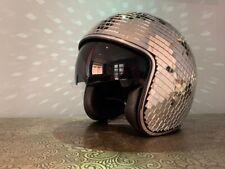 Festival Party Mirror Disco ball Helmet With Retractable Visor - Medium 🕺💃💥