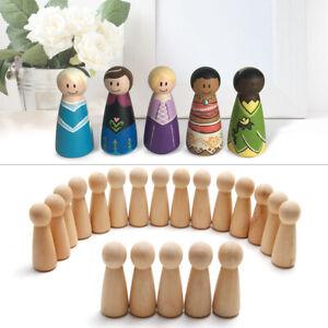 20 x Figurenkegel Holzfiguren Umhangmännchen Bemalen Holzpuppenpuppen Kinder
