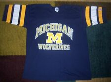 Rare Vintage Logo 7 Authentic Michigan Wolverines Football Jersey Shirt Xl l
