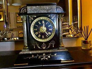 Antique slate marble 19th century, Mantle Clock,