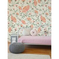 Floral removable wallpaper or traditional Delicate flowers wall art adhesive