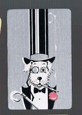 Playing Swap Cards 1 VINT U.S. DECO  DELUXE  DRESSED UP DOG TOP HAT & ALL 136