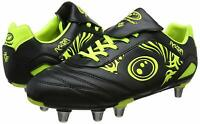Optimum Sports Razor Mens Rugby & Football Boots Ergonomic Studs - Black/Fluro