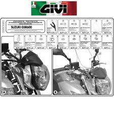ATTACCHI A167A PER CUPOLINO SUZUKI  GSR 600 2006 2007 2008 2009 2010 2011  GIVI