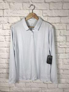 NEW Nike Golf Womens Light Blue Long Sleeve Polo Shirt Size XL