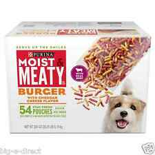 Purina Moist & Meaty Fresh Burger with cheddar cheese flavor Dog Food - 54 ct.