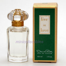 Oscar de la Renta LIVE IN LOVE Eau de Parfum 4 ml Miniature Collectible/Mini