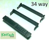 Floppy ribbon cable IDC connector 2.54mm 34 way Amphenol