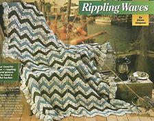 *Rippling Waves Afghan crochet PATTERN INSTRUCTIONS