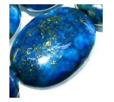 14mm oval Indigo lapis lazuri loose beads