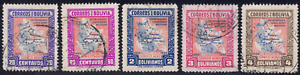 1945 Bolivia SC# C105-C111 - F - Founding of Lloyd - 5 Different Stamps - Used