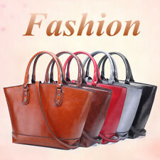 Women Oil Wax Leather Handbag Crossbody Shoulder Bag Travel Tote Satchel   ~ *