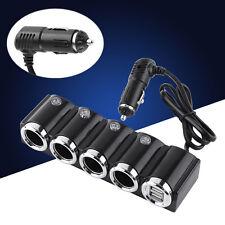 2 USB 4 Way Car Socket Cigarette Lighter Splitter Power Charger Adapter 12V/ 24V
