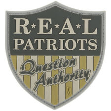 Moraal Maxpedition Real Patriots Question Authority Patch 3D Rubber Badge Arid
