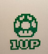 1up Mushroom - Arcade Game - Vinyl Decal - Multiple Colors