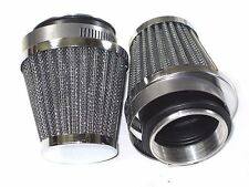 2 AIR FILTER universal cone pod clamp on for 930 928 Amal Triumph Norton EMGO