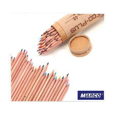Pro MARCO 48-Colors Drawing Pencil Soft Core Set Non-toxic Oil Base Art Supplies