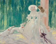 Icart Louis Afternoon Under The Lamp Canvas 16 x 20  #3029
