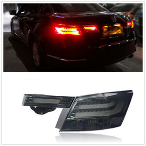 LED Tail lights Taillight Smoke Lens Assembly Lamp For Honda Accord 2008+ AMA