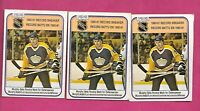 3 X 1981-82 OPC # 393 KINGS LARRY MURPHY RB  ROOKIE EX-MT CARD (INV# A8487)