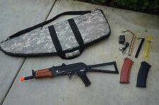 AIRSOFT - Full Metal Electric AKS-74U Kalashnikov w/Wooden Grip Bundle - EXCLLNT
