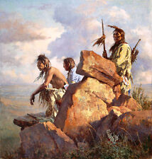 "HOWARD TERPNING  ""AMONG SPIRITS OF LONG-AGO PEOPLE""  2011  LMT. ED CANVAS  COA"