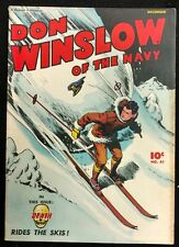 DON WINSLOW OF THE NAVY #41 NICE FN MINUS 1946 DEATH RIDES THE SKIS,FALL GUY