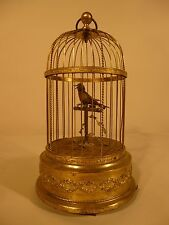 Bontems, Griesbaum Era: Antique Singing Bird Automaton In Gilded Cage