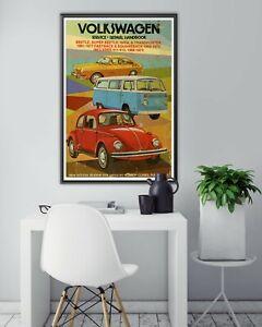 """Retro Volkswagen Repair Handbook POSTER! - (up to 24"""" x 36"""") - VW - Beetle - Bug"""