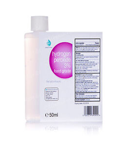 50ml HYDROGEN PEROXIDE 3% | food grade, first aid antiseptic, best oral clean