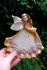 ANGELO in ceramica da appendere ARTE fatto a mano BELLISSIMI COLORI Farm Cottage casa negozio 0610